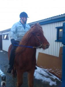 Í fyrsta reiðtrúnum þann 1. febrúar 2012 á Dyn