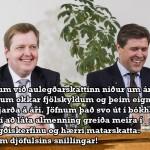 Snillingar í að svíkja almenning. MYND: JÆJA