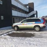 Lögreglan á vettvangi við Ástjörn á Selfossi.