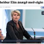 Sjálfshól Ragnheiðar fer illa í netverja.