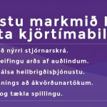 Fimm markmið sem Píratar setja á oddinn fyrir kosningar.